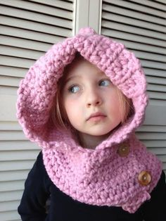Super soft Crocheted Child's Hooded Cowl by ACozyCrochet on Etsy, $30.00