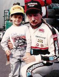 the late Dale Earnhardt with a very young Reed Sorenson
