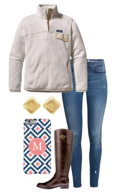 """""""It was so cold today """" by madelyn-abigail ❤ liked on Polyvore featuring H&M, Patagonia, Tory Burch and Charlotte Russe"""