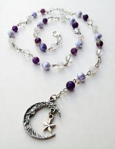 Artemis Pagan Prayer Beads/Rosary/Witch's Ladder by ~FaerieForgeDesign on deviantART
