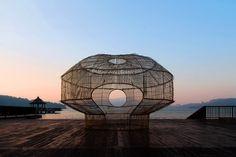 fish trap house cheng-tsung feng indigenous craft sun moon lake designboom