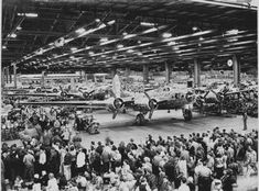 Boeing Aircraft Plant Seattle Washington in WW II