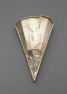 Brooch. Eleanor H Moty. Silver, 14kt gold - bewri