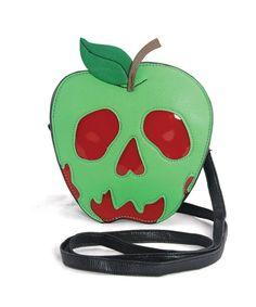 Sleepyville Critters - Poisoned Apple Crossbody Bag in Vinyl Material Fashion Handbags, Purses And Handbags, Leather Handbags, Novelty Handbags, Novelty Bags, Fashion Purses, Snow White Poison Apple, Snow White Evil Queen, Mode Steampunk