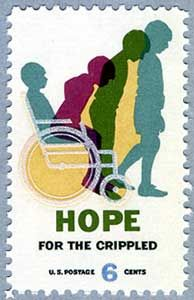 "Stamp USA 1969  ""Hope For the Crippled"""