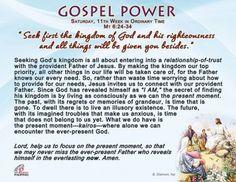 Gospel Pwer- Saturday, 11th Week in Ordinary Time