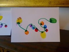 We have chosen fingerprint fairy lights for our 2013 homemade Christmas cards, very easy and economical to make Homemade Christmas Cards, Christmas Art, Family Christmas, All Things Christmas, Christmas Lights, Christmas Holidays, Christmas Ideas, Xmas, Finger Fun