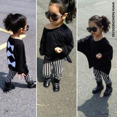 Black and white. Kids fashion