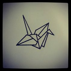 Origami Bird - tattoo sketch