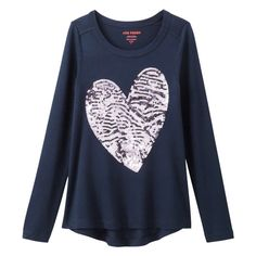 Kid Girls' Sequin Long Sleeve Tunic from Joe Fresh. Sequins dress up her everyday style. Just add leggings. The best part: it's machine washable. Only $19.