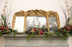 Cardroom mantle, Joseph Manigault House, 2012 by the Garden Club of Charleston.