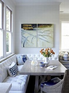 Minimalist Dining Room Design Ideas For Small Space Corner Breakfast Nook Furniture, Corner Breakfast Nooks, Breakfast Room Ideas, Breakfast Nook Bench, Banquette Seating In Kitchen, Corner Banquette, Corner Dining Nook, Kitchen Nook Bench, Booth Seating In Kitchen