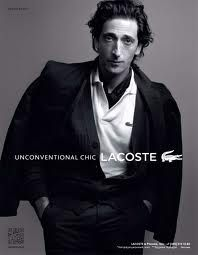 Unconventional Chic Lacoste. Adrien Brody on French Elegance