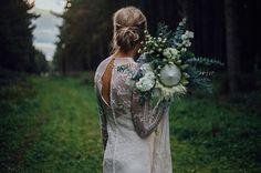 RACH + COLE // #bride #wedding #natives #flowers #green #bouquet  #ceremony #reception #ruedeseine