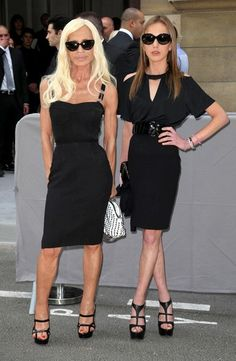 2 great LBD's By Donatella V.  Pity she had to wear one!