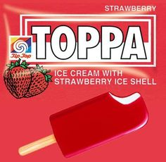 Tip Top Toppa. Another Ice Cream on a stick. Similar to the Fruju (see nearby pin), though this one has an Ice Cream centre. Tip Top, Vintage Ice Cream, New Zealand Houses, Ice Cream Van, My Family History, Kiwiana, The Beautiful Country, Oldies But Goodies, Time Capsule