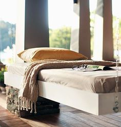 Tutorial: How To Build A Hanging Bed. I need Miguel to come help me do this at our new house :)
