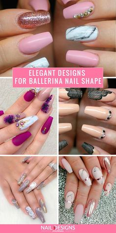 A ballerina nail shape is ideal for sending out a message about your creative inner self – let them know who you are!