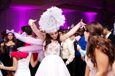Sophisticated Black, White, and Purple Quinceanera - The Celebration Society