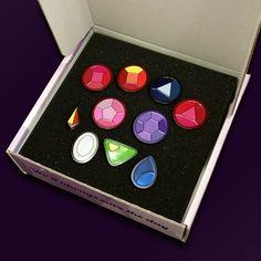 Best Gift // Steven Universe Crystal Gem Enamel Pin Collection Stocking Stuffer Soft Enamel