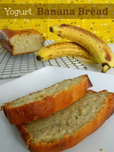 Yogurt Banana Bread #Bread #yogurt #Banana