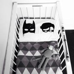 Bat boys screen printed pillowcase