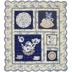 Time for Tea Quilt Pattern http://www.victorianaquiltdesigns.com/VictorianaQuilters/PatternPage/TimeforTea/TimeforTea.htm #quilting