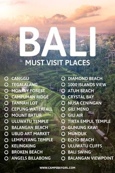 Must visit places that should be on your bucket list when traveling to BALI INDONESIA!  #bali #indonesia #bucketlist #nusapenida #kelingking #ubud