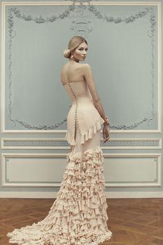 night lights: Ulyana Sergeenko S/S 2013.  women's fashion.  gowns.  vintage style.