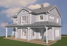 Schwedenhaus Lexington im New England Stil mit Doppgelgarage. Amerikanischer Stil bei einem besonderen Schwedenhaus