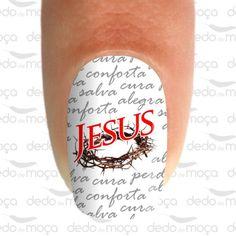 Adesivo para Unha - Jesus