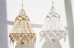Just arrived new Princessa Beaded Chandeliers, would look amazing in a Marquee or sperry tent set up now on our website >>> via White Chandelier, Beaded Chandelier, Chandelier Lighting, Chandeliers, Kim Soo Bali, Tent Set Up, Lights Fantastic, Bohemian Design, Boho Bride