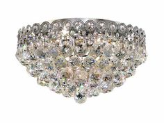 Century 4 Light Crystal (Clear) Flush Mount in Chrome Finish 1901F16C/RC