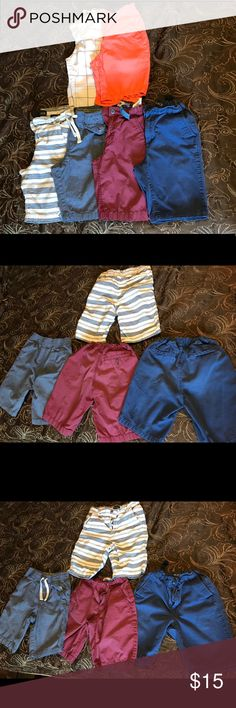 Lot of Boy's Shorts Size 7/8  This lot contains six pair of boy's shorts from Children's Place, Old Navy, and Carters. The top two are size 7, bottom four are size 8. They may have small spots here and there, but none that jumped out to me. They're still in pretty good condition considering they're boy shorts!  Most have adjustable waist bands, one has tie string. If you have any questions, feel free to ask! Offers are welcome! Children's Place Bottoms Shorts