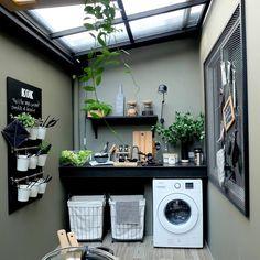 7 Small Laundry Room Design Ideas - Des Home Design Outdoor Laundry Rooms, Tiny Laundry Rooms, Outside Laundry Room, Small Laundry Area, Küchen Design, Design Case, Tile Design, Design Concepts, Deco Design