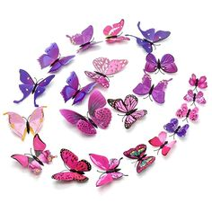 Vinyl Festival Party Wedding Decorations Colorful DIY Butterfly Wall Stickers Decoration For Home Decor, Kids Rooms Kids Room Wall Stickers, Cheap Wall Stickers, Mirror Wall Stickers, Window Stickers, Diy Butterfly, 3d Butterfly Wall Stickers, Kids Room Murals, Kids Rooms, Colorful Roses