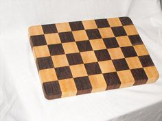 Cutting Board Butcher Block Maple And Walnut End Grain Kitchen Board