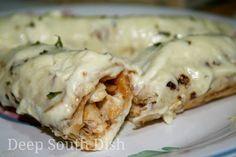 Easy White Chicken Enchiladas
