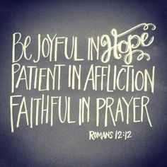In Jesus name, O God, I declare your joy, receive your patience, and claim the faith to pray until something happens.