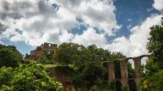 Castle and Roman aqueduct in Monterano, Italy. Photo by Piero Persello more info:  http://it.wikipedia.org/wiki/Monterano