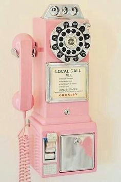 Old School Pink Telephone vintage retro Vintage Love, Vintage Pink, Vintage Stuff, Vintage Vibes, Pink Lady, Tout Rose, Vintage Phones, Vintage Telephone, Deco Retro