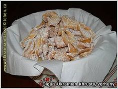 Ukrainian Khrusty/Verhuny (Crispy Twigs or Angel Wings) Ukrainian Recipes, Russian Recipes, Paska Recipe, European Cuisine, Thinking Day, Polish Recipes, How To Make Salad, Everyday Food, Dessert Recipes