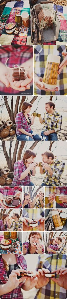 Love this picnic and smores engagement shoot.  simplyrosie.ca