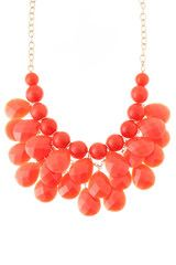 Coral Cluster Statement Necklace - Oh, how I need this <3<3<3