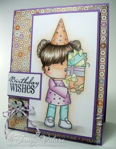 Simple but yet a very fun birthday card from Tracy. 3d Cards, Cool Cards, Copic Sketch Markers, Marker Art, Card Making Inspiration, Copics, Homemade Cards, Coloring Pages, Colouring