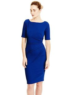 Round Neck Textured Shift Dress by M&S £31.60