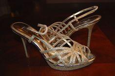 Nina NewYork Glitter Gold Pump Size 10 #Nina #PumpsClassics