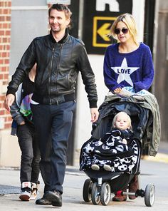 Kate Hudson and Matthew Bellamy with their kids in NYC
