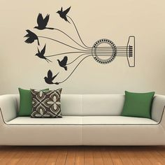 Music Notes Wall Decal Vinyl Stickers Music Dandelion Home ...