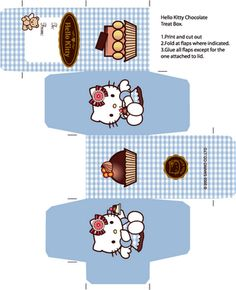 Free Printable Hello Kitty Chocolate Box The post Free Hello Kitty Box Template! appeared first on Paper Diy. Printable Box, Printables, Printable Templates, Banner Template, Kitty Party, Paper Toys, Paper Crafts, Anniversaire Hello Kitty, Hello Kitty Crafts